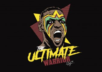 The Ultimate Warrior t shirt vector