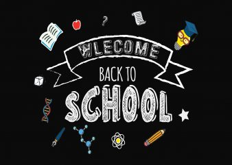 Welcome Back To School t shirt vector