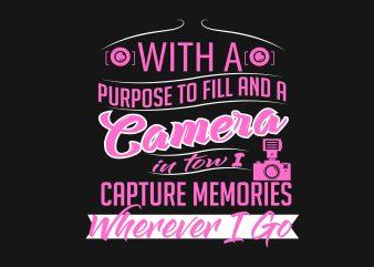 Camera t shirt vector file
