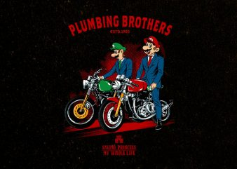 plumbing brothers Graphic t-shirt design
