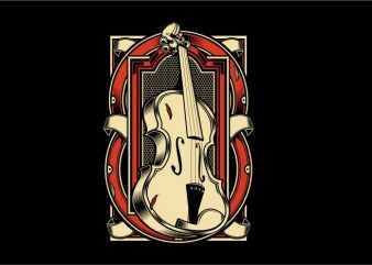 The Violin t shirt designs for sale