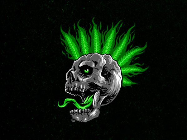 glowing skull Graphic t-shirt design