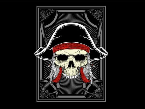 Captain Pirates t shirt vector file