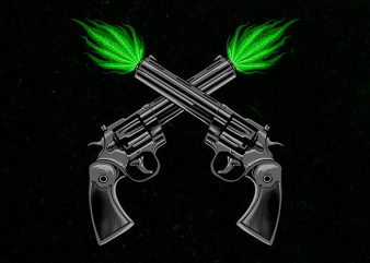 twin pistols Graphic t-shirt design