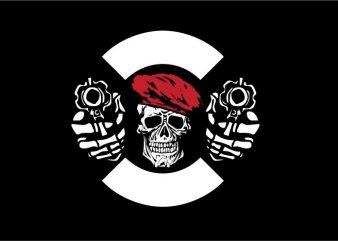 Dual Pistol t shirt vector illustration
