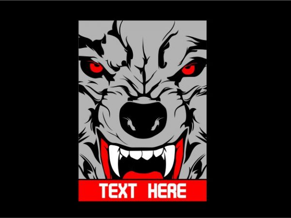 Wolf with Frame t shirt design for sale