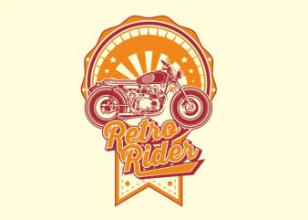 Retro Rider t shirt design online