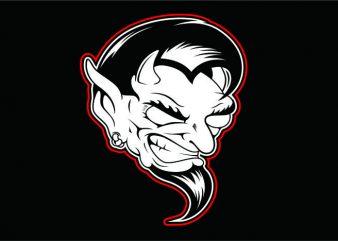 Evil Black White vector clipart