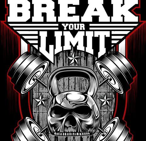 Break Your Limit t shirt template
