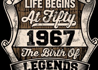 Life Begins At Fifty t shirt vector graphic