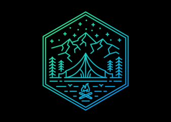 Adventure Camp t shirt vector