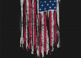 American Flag t-shirt design template