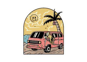 Vacation t shirt vector art