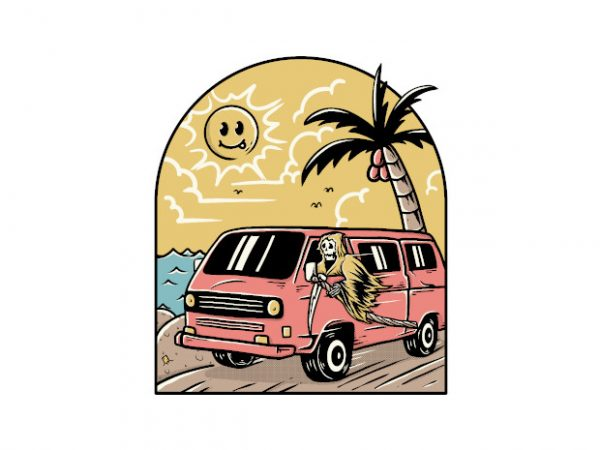Vacation t shirt vector art