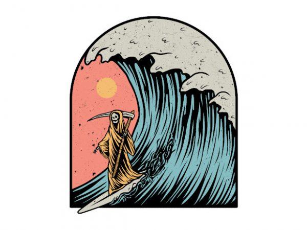 Wave Conqueror t shirt design for sale