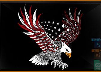 Bald Eagle t shirt template