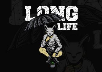 LONG LIFE T-SHIRT DESIGN