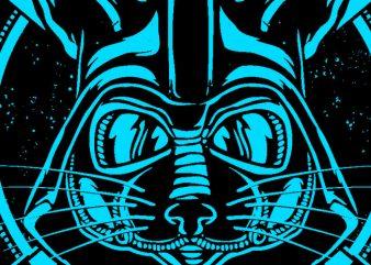 Catvader t shirt vector file