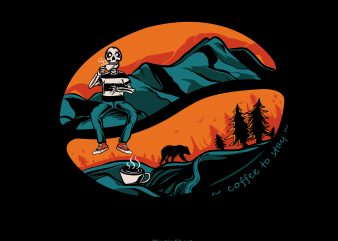 Forest Coffee t shirt graphic design