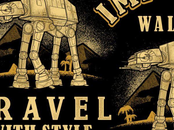 Imperial Walker t shirt design for sale