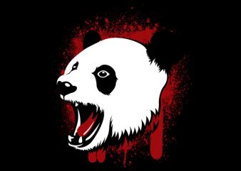 Kill the Panda t shirt vector art