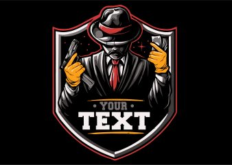 Mafia Vector Tshirt Design