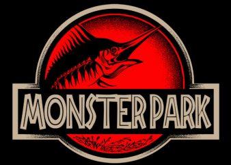Monster Park t shirt designs for sale
