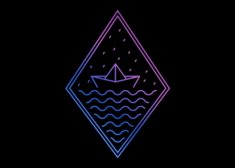 Paper Boat t shirt illustration