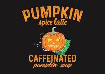 Pumpkin Caffeinated t shirt illustration