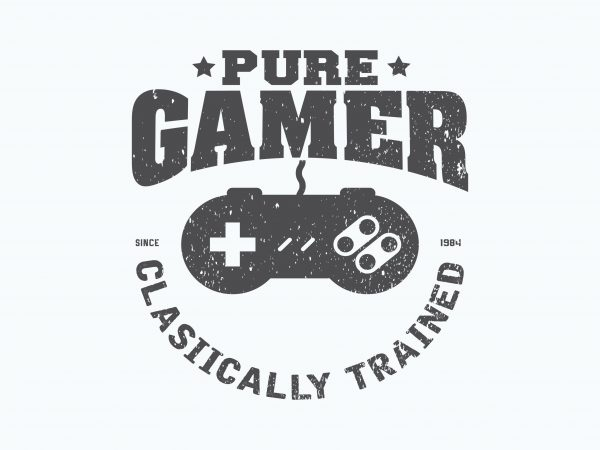 Pure Gamer t shirt illustration