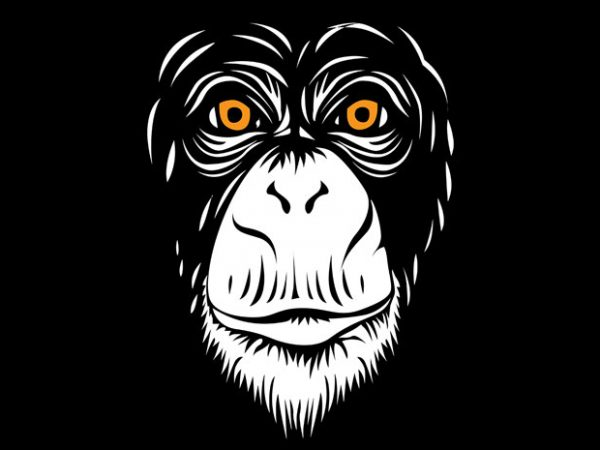 Sarkowi the Monkey t shirt template vector