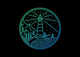 Sea of Light t shirt template vector