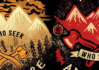 Seek Adventure t shirt template vector