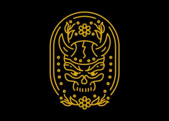 Viking Skull t shirt vector art