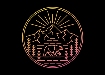 Wilderness Bear t shirt design for sale