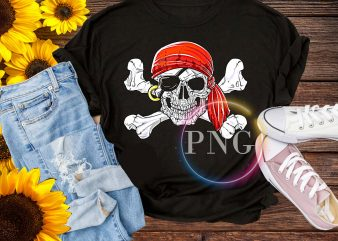 pirates skull halloween t shirt design – Jolly Roger Skull & Crossbones Flag Tees