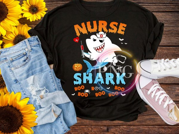 Nurse Shark Boo Boo Boo – Halloween Nurse Shark Pumpkin T shirt vector artwork