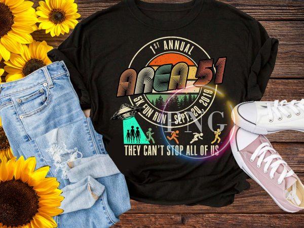 1st Annual Area 51 5K Fun Run – Sept 20 2019 Vintage Funny UFO, Alien T-Shirt