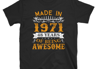 Birthday Tshirt Design – Age Month and Birth Year – 1978 41 Years Awesome