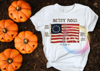 Betsy Ross America old flag 1777 – 1795 T shirt design PNG