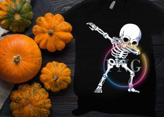 skull dabbing halloween costume design t shirt