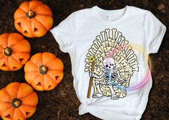 Funny Skull King GOT T shirt deisng Halloween costume