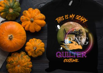 This is my Scary Quilter Costume halloween design t shirt