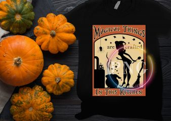 Magical things are crafted in this kitchen Halloween Grandma Mom Custome t shirt designs for sale