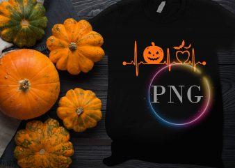 Pumpkin heartbeat Nurse Doctor Halloween Costume Design