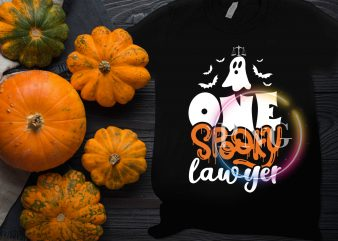 Ghost One Spooky Lawyer Halloween Costume T shirt design