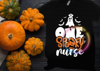 Ghost One Spooky Nurse Halloween Costume T shirt design