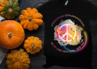 Woodstocks 50th anniversary – White lake New York 2019-1969 T shirt Design