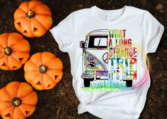 What a long strange trip it's been Bus Hippie Peace T shirt design