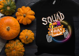 Squad Witches Sister Jeep Pumpkin car Halloween Hocus pocus T shirt design